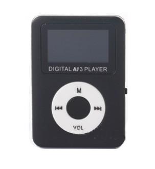 ミニ MP3プレーヤー 《ブラック》 小型 コンパクト スーパーセール microSDカード式 デジタルオーディオプレーヤー smtb-KD 送料無料 代引不可 定形外郵便 売れ筋