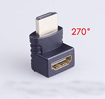 HDMI L型アダプタ 270度 上向き HDMIオス-HDMIメス オンライン限定商品 延長アダプタ 延長コネクタ ケーブル類 アダプター WEB限定 smtb-KD 定形外郵便 代引不可 送料無料