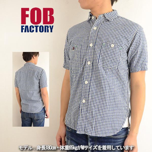 FOB FACTORY F.O.B FACTORY F alumnus factory F3266[ay] short sleeves gingham check work