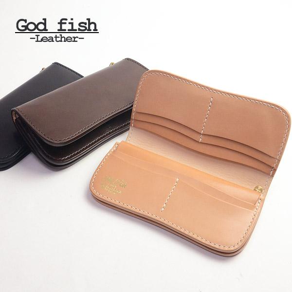 GOD FISH ゴッドフィッシュ ウォレットロープ サドルレザー ハンドソーイング 本革 ブランド 真鍮 財布 上質 高級 スッキリ バッグ・小物・ブランド雑貨 財布・ケース メンズ財布 40代 カードがたくさん入る 送料無料