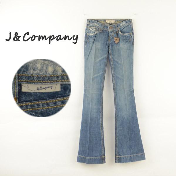 J&Company ジェイアンドカンパニー C1175BDX レディースジーンズ デニム フレアー ブーツカット 女性 ブランド レディースファッション ボトムス パンツ 40代 裾上げ 送料無料