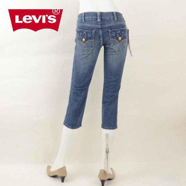 【1500円OFFクーポン有】Levi's リーバイス WG406 LEVI'S LADY STYLE GOLD DENIM 刺繍デザインクロップドパンツ ジーンズ デニム レディース 女性 ブランド キャッシュレス 消費者還元 DEAL