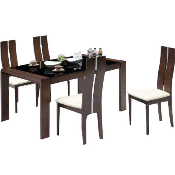 ダイニングテーブルセット ダイニングセット 5点セット 4人掛け 食卓セット 伸長式 伸縮テーブル ガラステーブル ブラウン 北欧 シンプル モダン おしゃれ 木製 送料無料 通販