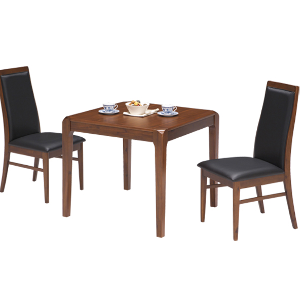 ダイニングセット ダイニングテーブルセット 2人掛け 3点 ダイニングテーブル 3点セット 幅80cm 正方形 ブラウン ブラック コンパクト 省スペース ワンルーム食卓セット 高級感 木製 送料無料 通販