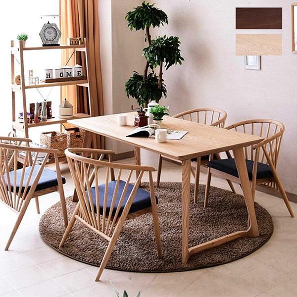 ダイニングテーブルセット 4人掛け 4人用 北欧 幅150センチ テーブル アッシュ タモ材 ダイニングセット ダイニング5点セット リビングダイニングセット 椅子 4脚 おしゃれ 長方形 150x80 ナチュラル ブラウン