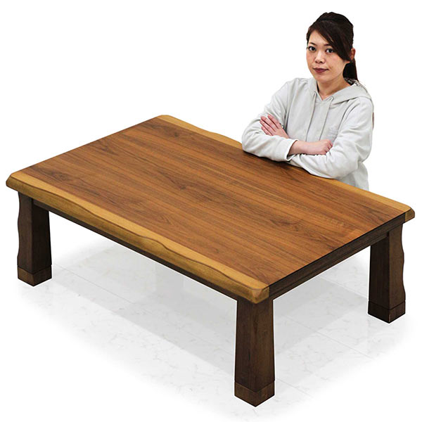 こたつ テーブル 幅120cm 120×80 長方形 座卓 炬燵 家具調こたつ 木製 ウォールナット 継ぎ足 モダン おしゃれ 送料無料 通販