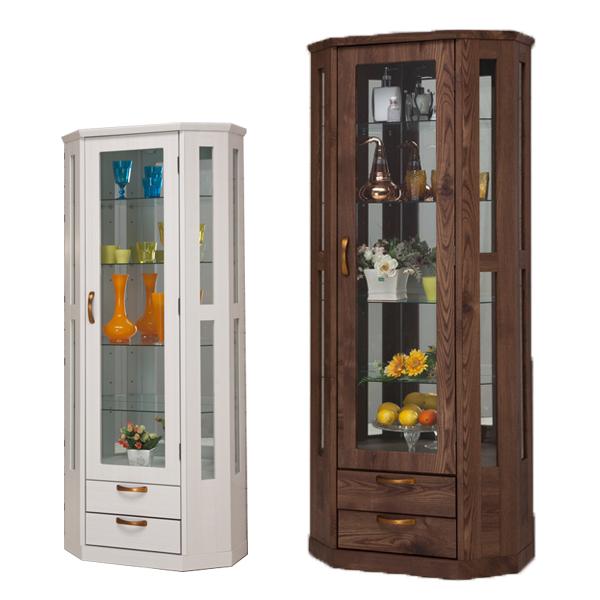 コレクションケース コレクションボード コレクションラック 幅70cm 奥行35cm 高さ170cm ハイタイプ ブラウン ホワイト 選べる2色 フィギュア コレクション ディスプレイ ガラス 木製 完成品 通販 送料無料