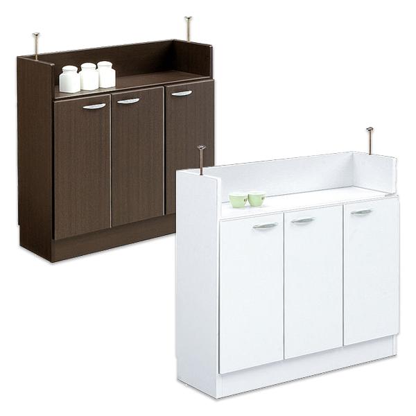 キッチンカウンター 90 カウンター下収納 幅90cm 薄型 食器棚 シンプル モダン 2色対応 開き戸 日本製 国産 木製 送料無料 通販