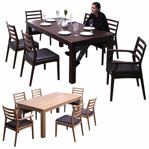 数量限定 ダイニングテーブルセット ダイニングセット 7点セット 6人掛け 2色対応 北欧 シンプル モダン 木製 食卓セット送料無料