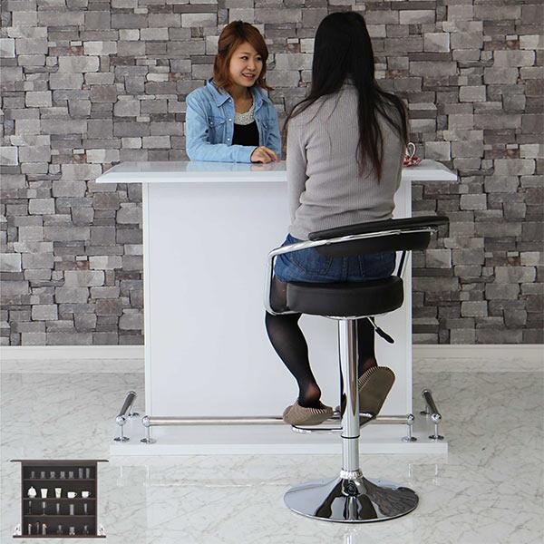 バーカウンター 幅120cm カウンターテーブル キッチンカウンター テーブル キッチン収納 オープンタイプ 木製 完成品 送料無料 通販