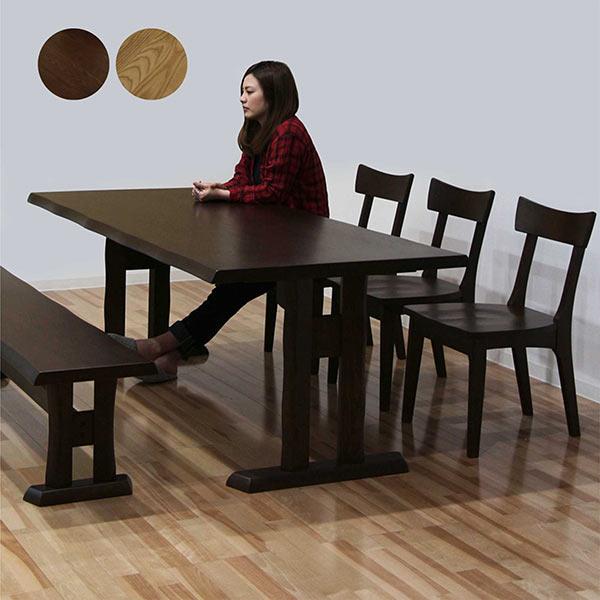 ダイニングテーブルセット ダイニングセット 5点セット ベンチ付き ナチュラル モダン 6人掛け 食卓セット 通販