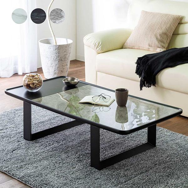 センターテーブル ソファテーブル リビングテーブル 大理石調 マーブル柄 セラミック テーブル 幅120cm 高さ32cm 白 黒 グレー色 セラミックトップ ホワイト ブラック 高硬度 強度 耐熱性 ステンレス MDF材 陶磁器 高級感 モダン おしゃれ