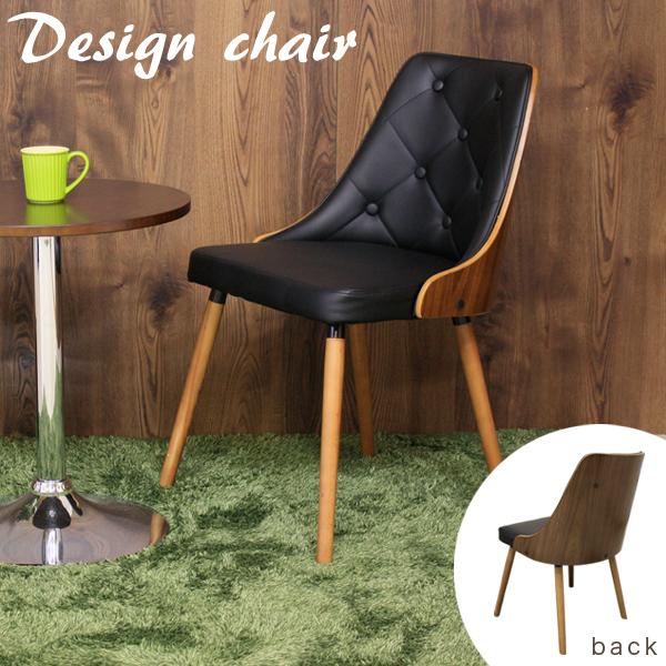 おしゃれ ダイニングチェア 幅50cm チェア 椅子 ブラック カフェ風 パーソナルチェア デザインチェア 1人掛け ソフトレザー 合皮 異素材 モダン 一人用 送料無料
