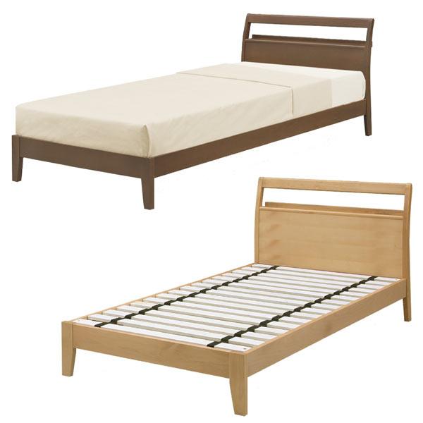 シングルベッド ベッド 宮付き ベッドフレーム 木製 シンプル モダン マットレス別売りです 通販