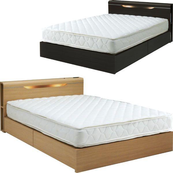 ダブルベッド ベッド シック ベッドフレーム 収納 ホテル 高級 シンプル 木製 予約販売品 ライト付き マットレス別売りです 通販 収納機能付きベッド 衣類収納 送料無料 スーパーSALE セール期間限定 ベット