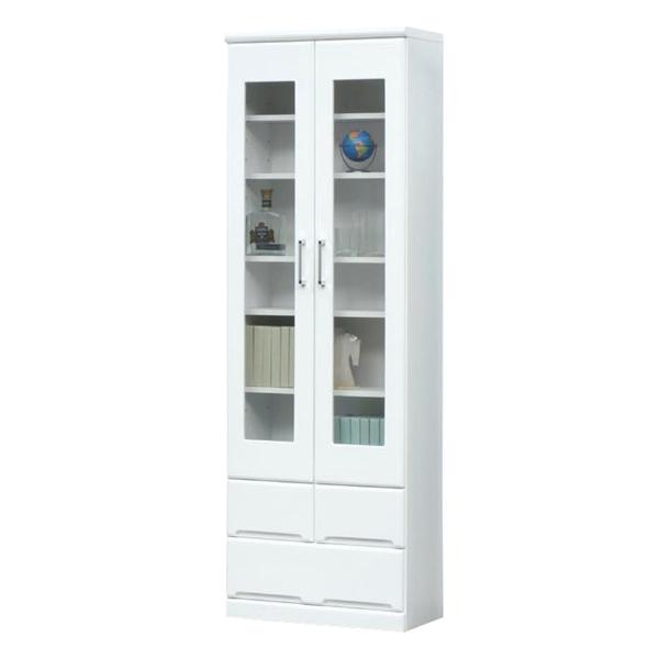 本棚 書棚 フリーボード ハイタイプ ホワイト 鏡面 日本製 白【家具通販】【送料無料】【smtb-ms】 通販