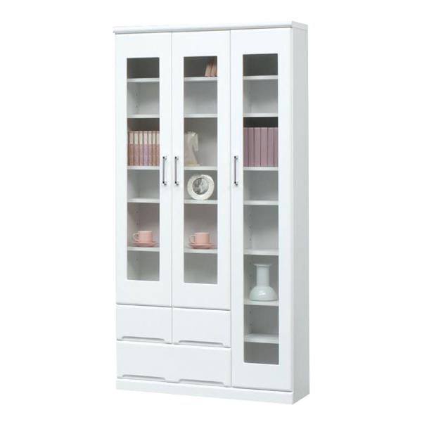 本棚 書棚 幅90 フリーボード ハイタイプ ホワイト 鏡面 日本製【家具通販】【送料無料】【smtb-ms】 通販