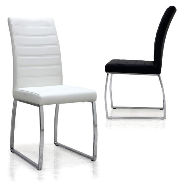 トップ ダイニングチェア 2脚セット チェア 椅子 合皮 チェア ホワイト ブラック 選べる2色 白 合成皮革 シンプル モダンテイスト モノトーンカラー 黒 白 合成皮革 送料無料, 松尾村:f7d2a5e5 --- canoncity.azurewebsites.net