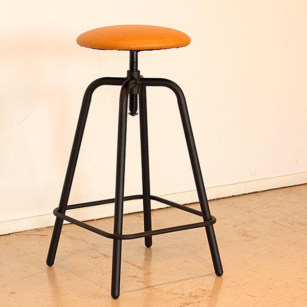 チェアー スツール スピンドルチェア カウンターチェアー 椅子 デザイナーズ 合皮レザー 昇降式 レトロ モダン 通販