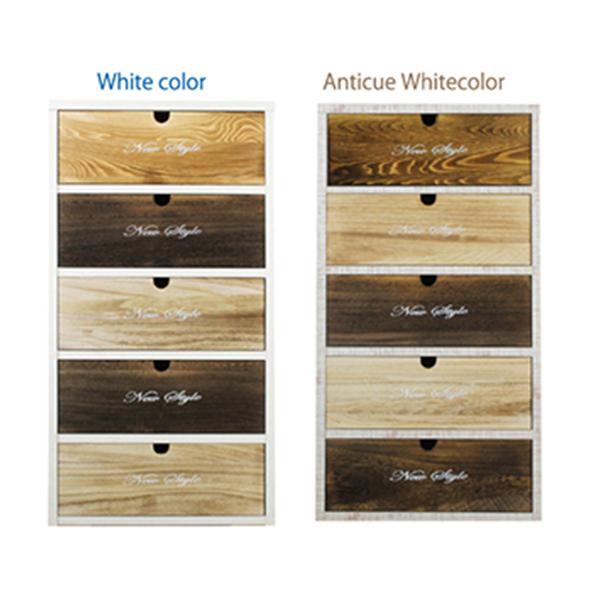 ローチェスト スリムチェス タンス アンティーク調 幅50cm 引き出し 入れ替え可能 国産 ホワイト・アンティークホワイト 選べる2色 コンパクト 高さ92cm 収納 リビング モダン