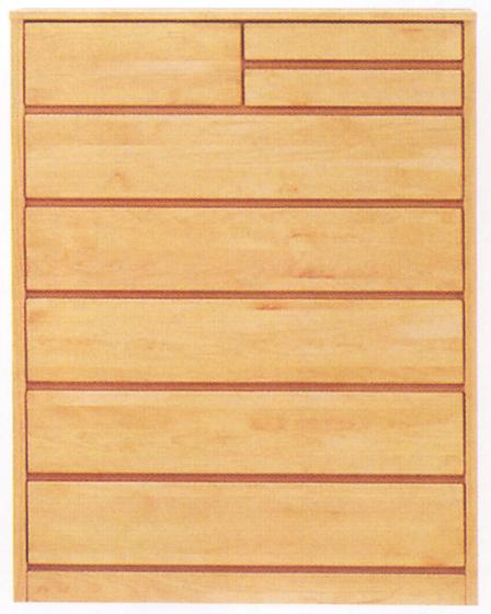 チェスト タンス ハイチェスト 幅100cm 6段 木製 国産 シンプル ナチュラル アルダー材 完成品 通販