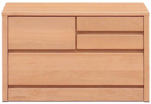 チェスト タンス ローチェスト 幅80cm 2段 木製 シンプル ナチュラル 国産 完成品 アルダー材 通販