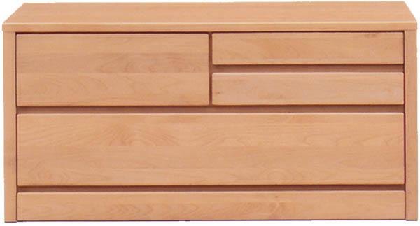 チェスト タンス ローチェスト 幅100cm 2段 木製 シンプル ナチュラル 国産 完成品 アルダー材 通販