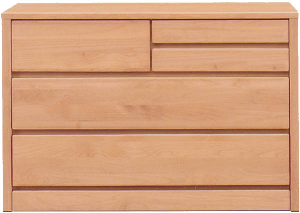 チェスト タンス ローチェスト 幅100cm 3段 木製 シンプル ナチュラル 国産 完成品 アルダー材 通販