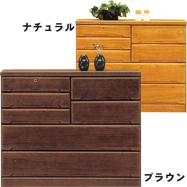 チェスト タンス ローチェスト 幅120cm 桐材 木製 シンプル モダン 2色対応 日本製 完成品 送料無料 通販