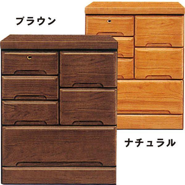 チェスト タンス ローチェスト 幅60cm 3段 桐材 木製 シンプル モダン 2色対応 日本製 完成品 送料無料 通販