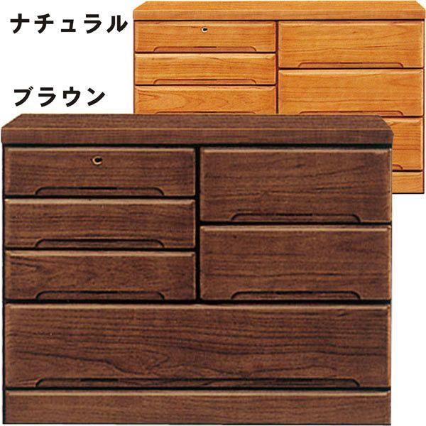 チェスト タンス ローチェスト 幅100cm 3段 桐材 木製 シンプル モダン 2色対応 日本製 完成品 送料無料 通販