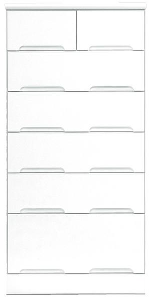 チェスト タンス ハイチェスト 幅60cm 6段 衣類収納 箪笥 鏡面ホワイト シンプル 北欧 木製 日本製 完成品 送料無料 通販