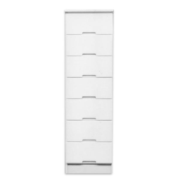 ハイチェスト スリムチェスト チェスト タンス 幅40cm 7段 鏡面ホワイト 木製 シンプル モダン 完成品 通販