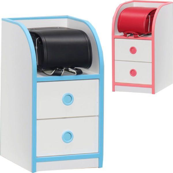 子供用 家具 ランドセル 収納ボックス ローチェスト 幅37 高さ70 子供服 タンス チェスト キッズ ホワイト ブルー ピンク 木製 北欧 完成品 送料無料 通販