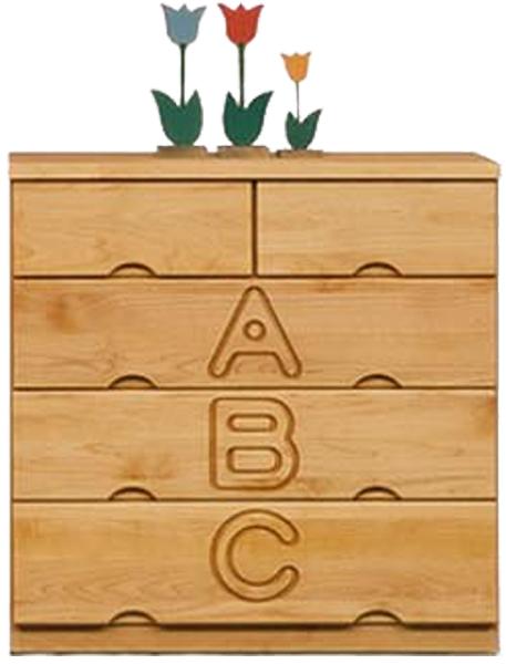 キッズ家具 タンス チェスト ローチェスト 幅80cm 3段 子供部屋 子供家具 木製 無垢 日本製 完成品 送料無料 通販