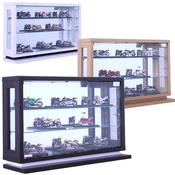 数量限定 コレクションケース コレクションボード キュリオケース フィギュアケース コレクションラック ショーケース ガラスショーケース 飾り棚 ロータイプ 幅60cm 高さ40cm 奥行18cm 選べる3色 ホワイト ナチュラル ブラウン 送料無料 通販
