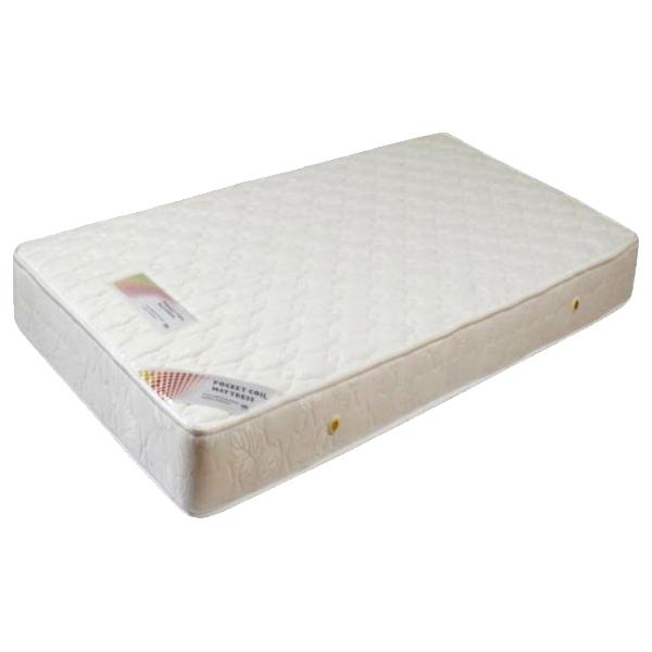 マットレス シングル ポケットコイル 寝具 ホワイト 送料無料 通販