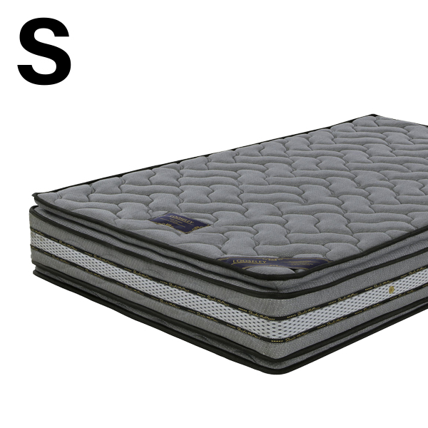シングル マットレス ポケットコイルマットレス グレー色 幅97 長さ195 厚み28cm シンプル 寝具 寝室 ベッドマットレス ニット生地 シングルベッド ポケットコイル 快眠 シングルポケットコイル モダン 送料無料