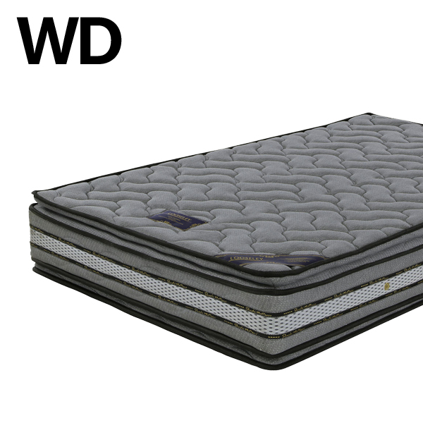 マットレス ワイドダブルサイズ ポケットコイル 快眠 寝具 マット 幅150 長さ195 厚み28cm ニット生地 ベッドマットレス 寝室 ポケットコイルマットレス シンプル グレー色 高級感 送料無料