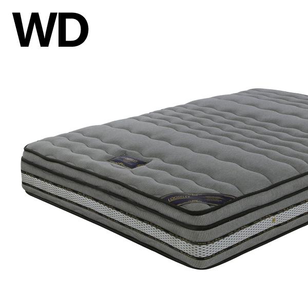 ポケットコイル マットレス ワイドダブルサイズ 高級感 グレー色 ポケットコイル 寝具 幅150 厚み26cm ニット生地 ワイドダブルベッド 北欧風 寝室 ベッドマット 送料無料