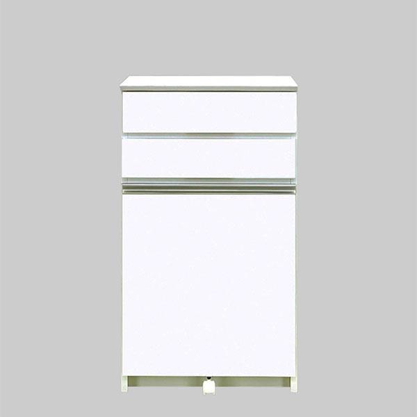 ゴミ箱 ダストボックス 2分別 ホワイト コンパクト すき間 ダストBOX ごみ箱 スリム キッチン収納 省スペース 幅56cm ふた付き 30Lペール付き ホワイト キャスター付き 国産 日本製