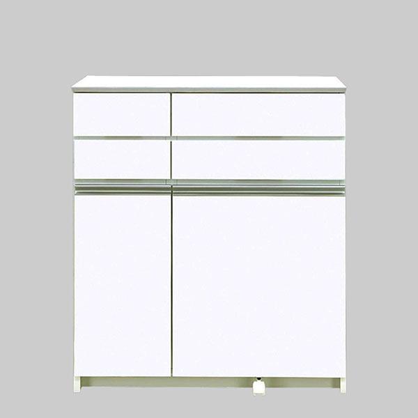 ゴミ箱 キッチン 分別 ペール 3個付き ダストボックス ごみ箱 見えない 30リットル 30l キッチンカウンター ホワイト 清潔感 キッチン収納 キャスター付き 国産 日本製
