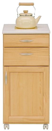 キッチンカウンター 幅40cm タイル キャスター おしゃれ 木製 日本製 【完成品】 【送料無料】 通販