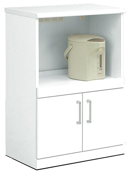 キッチンカウンター 幅60cm キッチン収納 隠しキャスター付き 鏡面ホワイト シンプル 北欧 木製 日本製 完成品 送料無料 通販