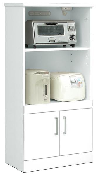 レンジ台 レンジラック レンジボード キッチンカウンター キッチンラック 幅60cm キッチン収納 鏡面ホワイト シンプル 北欧 木製 日本製 完成品 送料無料 通販