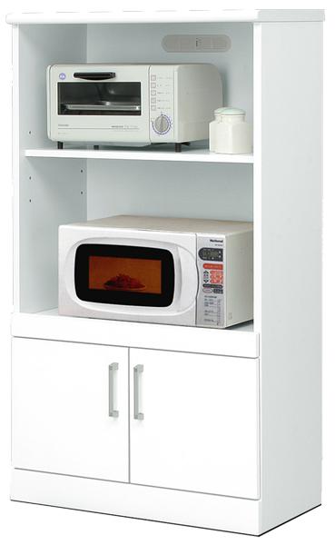レンジ台 レンジボード 幅70cm キッチン収納 鏡面ホワイト シンプル 北欧 木製 日本製 完成品 送料無料 通販