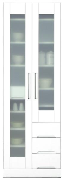 食器棚 幅60cm ダイニングボード キッチンボード キッチン収納 マルチ収納 鏡面ホワイト シンプル 北欧 木製 完成品 日本製 送料無料 通販