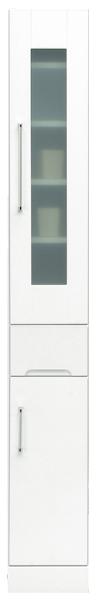 食器棚 幅25cm ハイタイプ すきま収納 隙間収納 キッチン収納 引き出しタイプ シンプル 北欧 鏡面ホワイト 木製 日本製 完成品 送料無料 通販