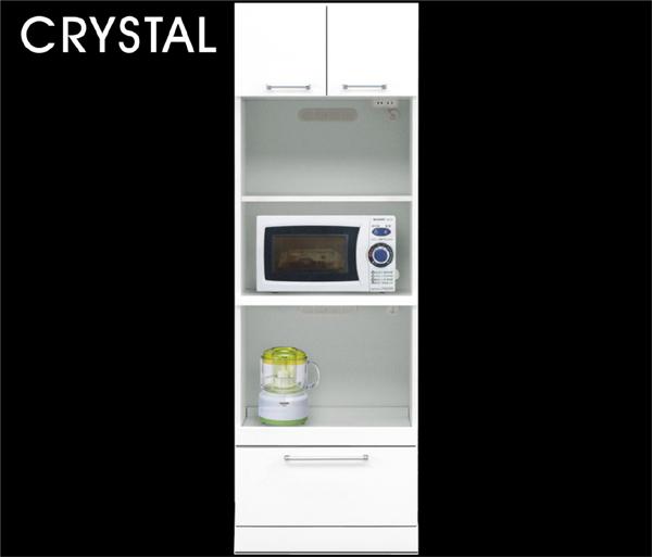 レンジ台 幅60cm レンジボード ハイタイプ キッチン収納 すきま収納 引き出し スリムタイプ ホワイト 鏡面ホワイト 光沢 ツヤあり 北欧 木製 日本製 完成品 送料無料 通販