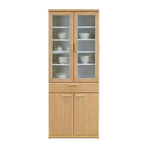 キッチン収納 食器棚 キッチンボード 開戸タイプ 木製 北欧 モダン シンプル ナチュラル 幅70cm 高さ180cm ハイタイプ おしゃれ 天然木 天然杢 完成品 送料無料 通販